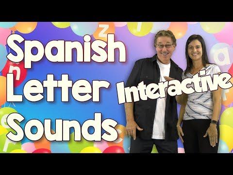 Alfabeto | Interactive | Learn Spanish Letter Sounds | Jack Hartmann