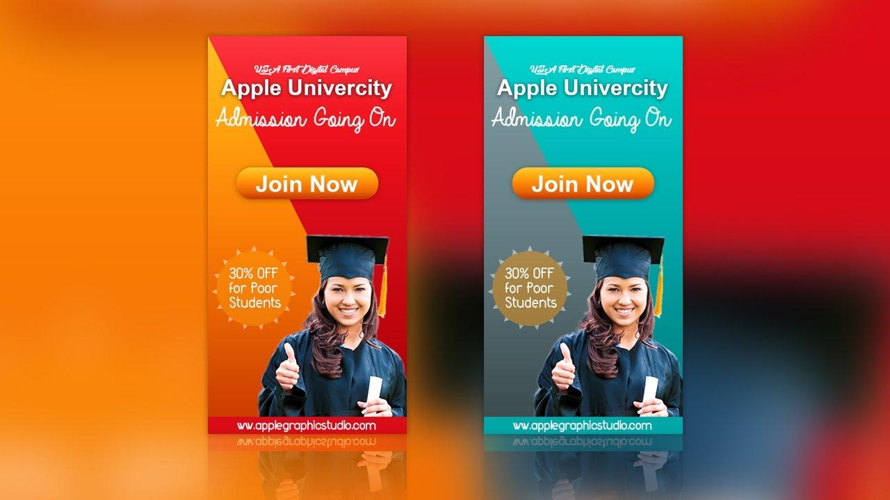 Make a website banner ad design photoshop cc tutorial youtube.