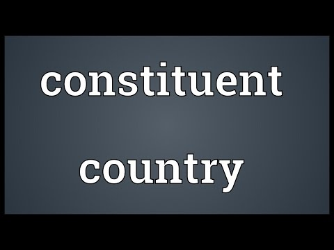Constituent country Meaning