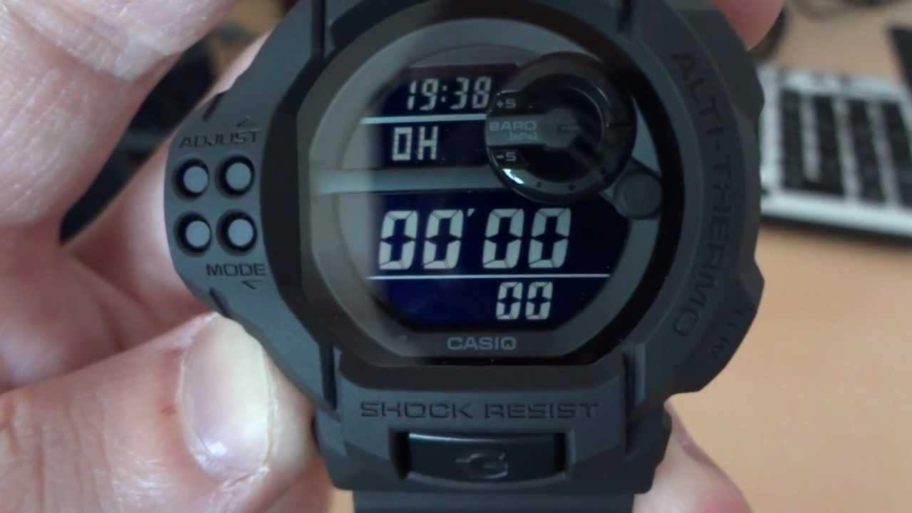 Casio G Shock Gdf 100bb 1dr Solid Colors Basic Black