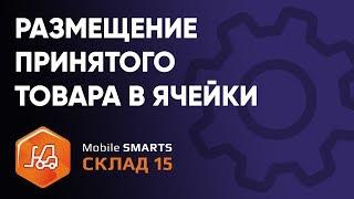 размещение принятого товара в ячейки кладовщиком на ТСД в «Mobile SMARTS: Склад 15»