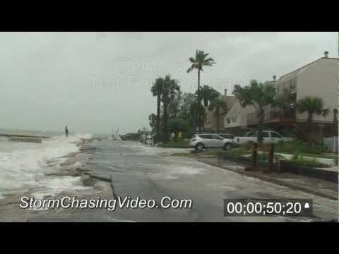6/24/2012 Tropical Storm Debby - 2012 - Storm Surge, Sarasota, FL - Stock Video