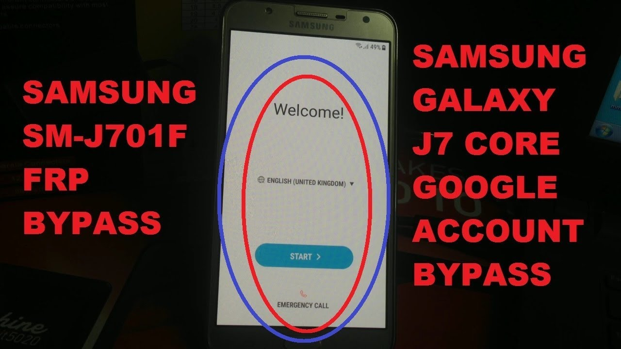 How To Bypass Google Account On J7 Core remove google