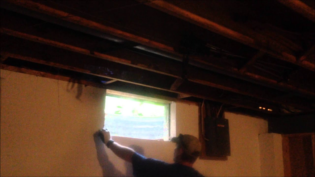 Glass Block Basement Window Install.