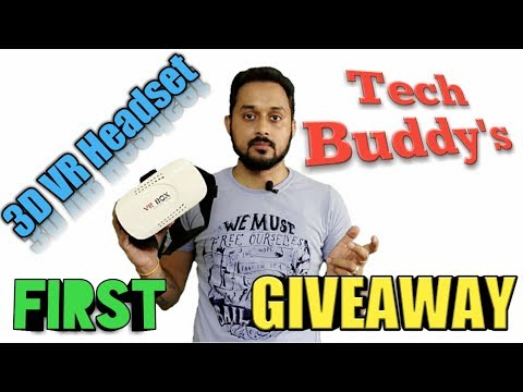 Tech Buddy Ratan's First Giveaway India, 3D VR Headset Virtual Reality Glasses for iPhone & Android