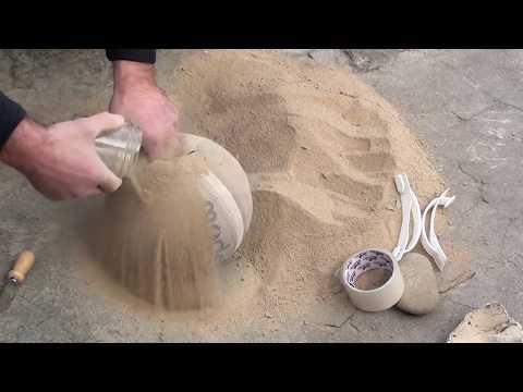 Самодельная гиря своими руками/Homemade kettlebell/Primitive technology
