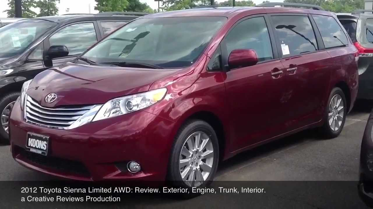 2012 Toyota Sienna Limited Awd Review Youtube