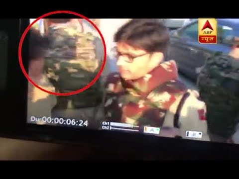 When ABP News correspondent had a hairline escape while reporting from Jammu Kashmir
