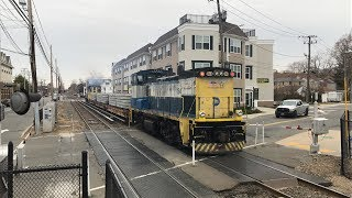 Long Island Rail Road HD 60fps: MP15AC Tie Train @ Farmingdale (3/29/19)