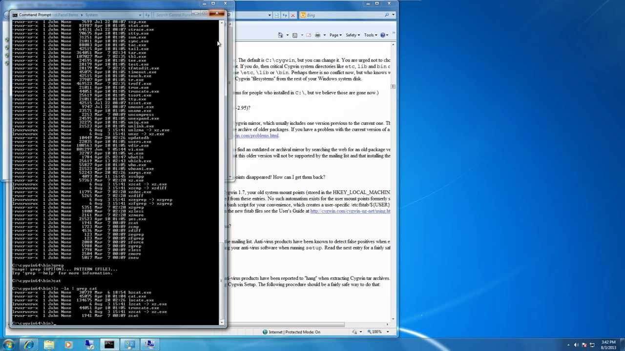 How to run Linux commands on Windows using Cygwin
