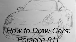 How to Draw Cars: Porsche 911