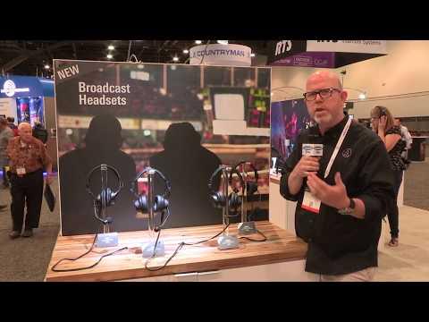 Audio Technica BPHS2 Broadcast Headsets at NAB Las Vegas 2018