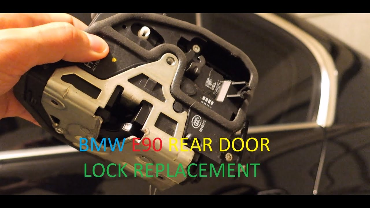 Bmw E90 Sedan 335i Left Rear Door Lock Actuator Replacement Diy Youtube
