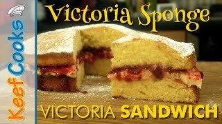 Victoria Sponge Cake | Victoria Sandwich Recipe