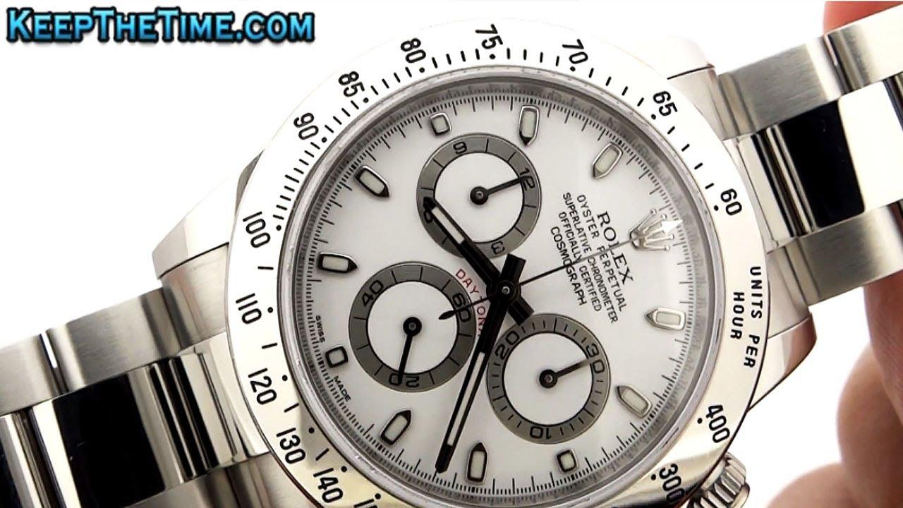 rolex 116520 daytona steel bezel watch hd video youtube
