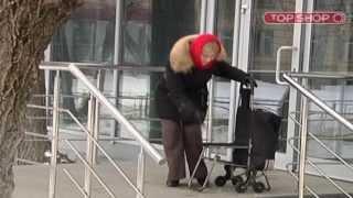 Хозяйственная Сумка-Тележка - Уникальная конструкция, ездит даже по ступеням!(, 2013-04-09T09:58:13.000Z)