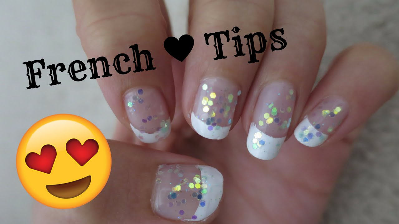 How to Do French Tip Nails With Tape! DIY (Easy) - YouTube