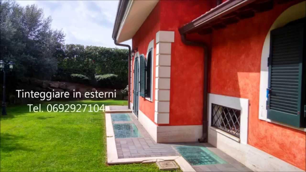tinteggiatura esterni e progettazione degli spazi verdi - youtube - Dipingere Esterno Casa