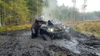 There is dirt but there is no water BRP POLARIS CFMOTO