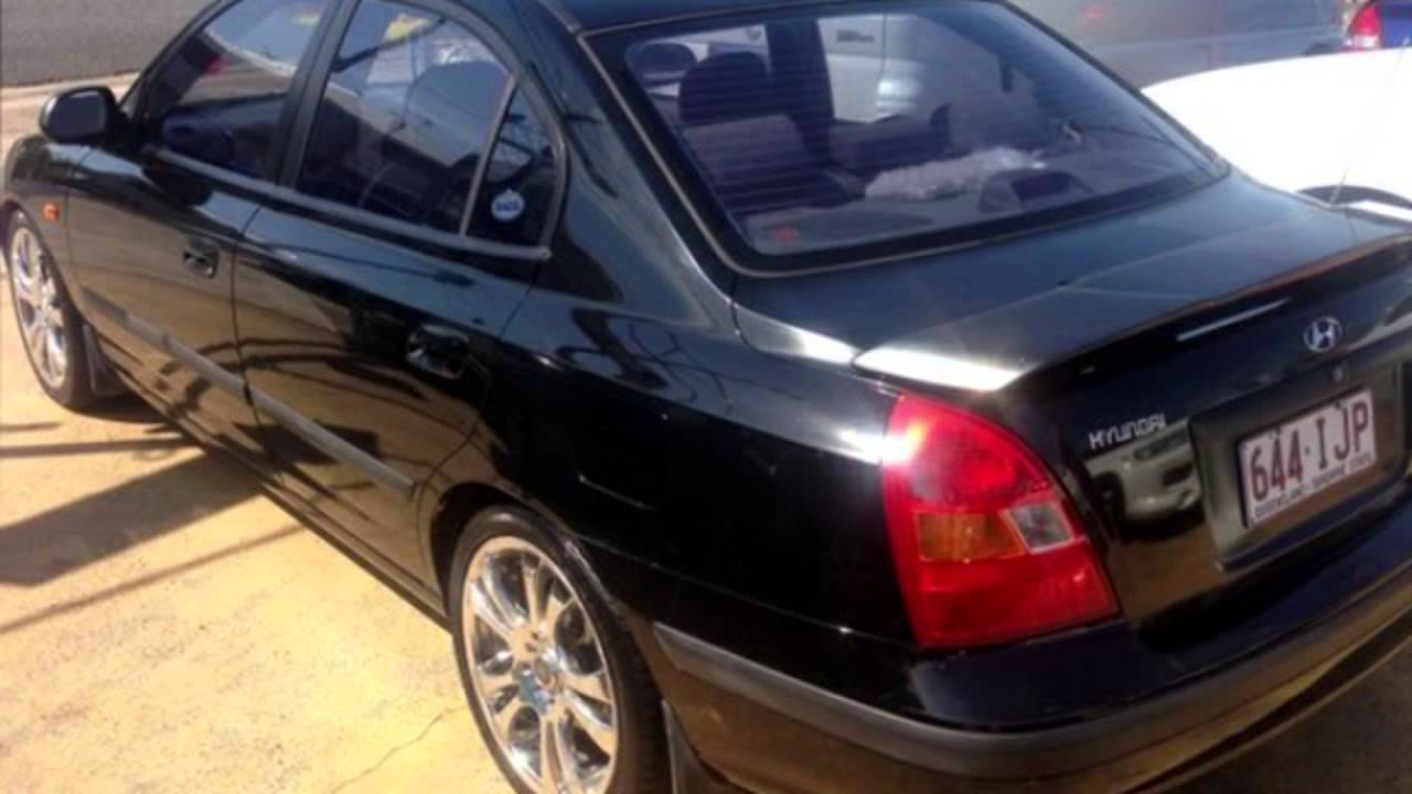 2001 hyundai elantra xd gl black 4 speed automatic sedan. Black Bedroom Furniture Sets. Home Design Ideas