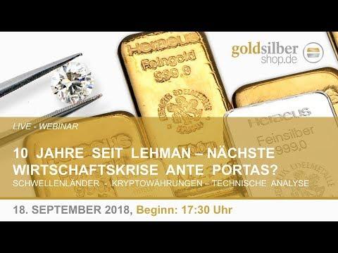 10 Jahre seit Lehman - Nächste Wirtschaftskrise Ante Portas? Webinar mit M. Blaschzok (18.09.2018)