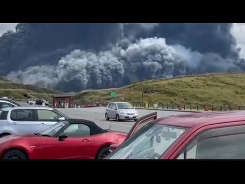 Download Mount Aso, one of the largest volcano in world, erupts in Kyushu, Japan!! (October 20, 2021)
