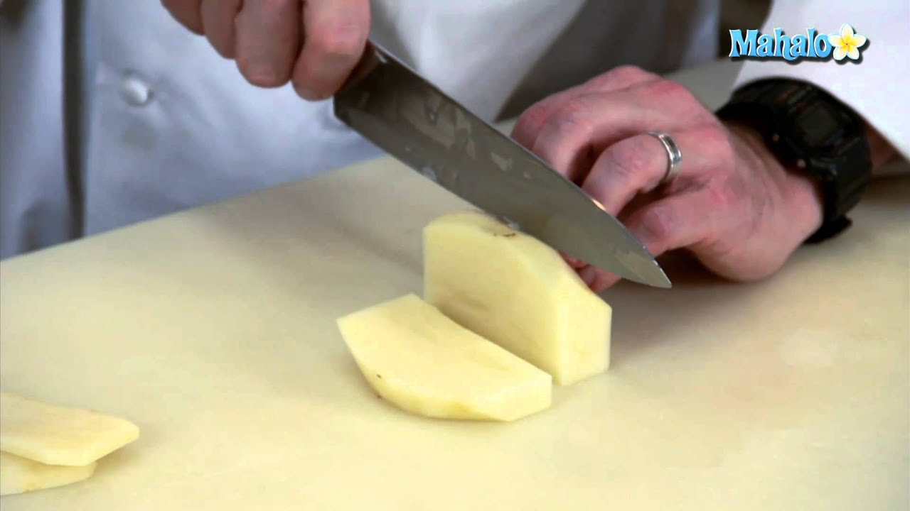 Knife Skills How To Cut A Paysanne With A Potato Youtube