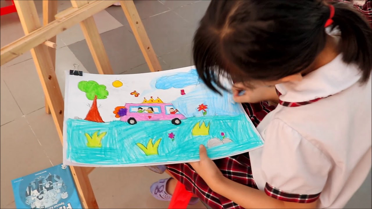 Em vẽ ô tô mơ ước – Trường TH Đặng Thùy Trâm