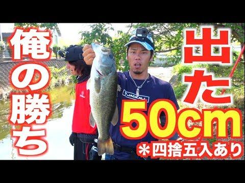 見えている50cmオーバーの魚を狙う!