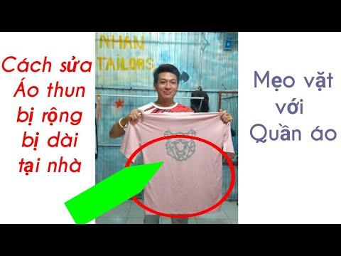 Cách sửa áo thun bị rộng bị dài-Mẹo vặt với quần áo/Nhân Tailors Official