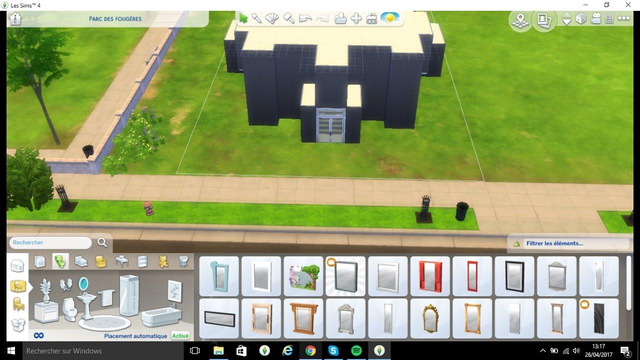 Sims 4 construction maison moderne 1