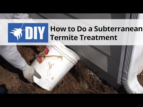 How to do a subterranean termite treatment youtube solutioingenieria Gallery