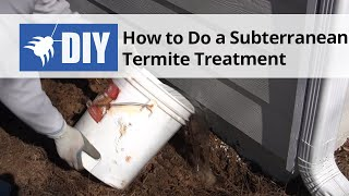How to Do a DIY Subterranean Termite Treatment