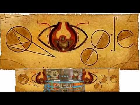 Альхазен  Alhazen ابن الهيثم - Google Doodle Logo - أبو علي، الحسن بن الحسن بن الهيثم