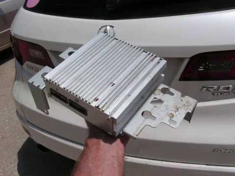 Acura RDX Amplifier Removal - YouTube
