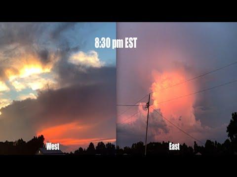 "*Dual Sunsets* North Carolina - ""MESMERIZING Sky"""