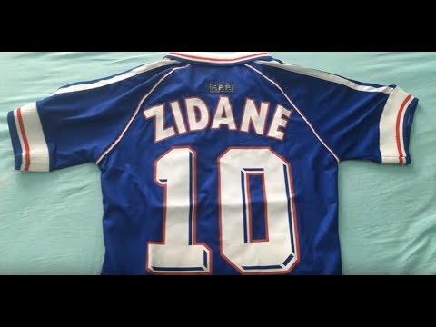 Minejerseys France 1998 World Cup Champion Retro Classic Football Shirt Jersey Review Zidane Youtube