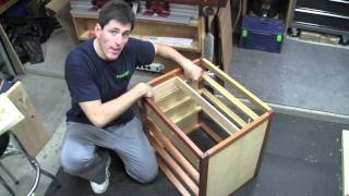 #38.8 - Sculpted Mahogany Vanity - Part 8 - Fitting Drawers And Drawer Guides