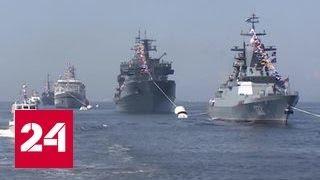 На параде в честь Дня ВМФ показали засекреченный корвет