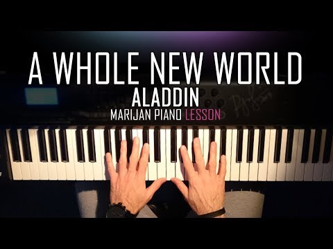 How To Play: Aladdin - A Whole New World | Piano Tutorial Lesson + Sheets