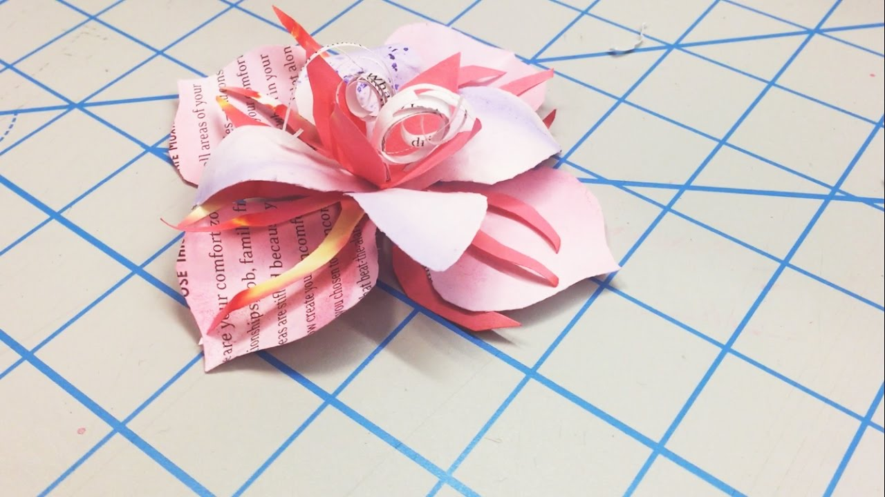 How to make paper flowers out of office supplies youtube how to make paper flowers out of office supplies mightylinksfo