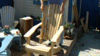 Cobwobbler Crafts: Veritas Folding Adirondack Chair