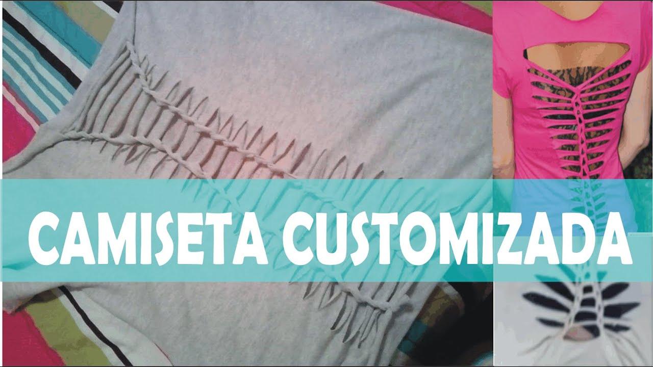 66d1a1bc1d Customização de camiseta - como customizar aula rapida - YouTube