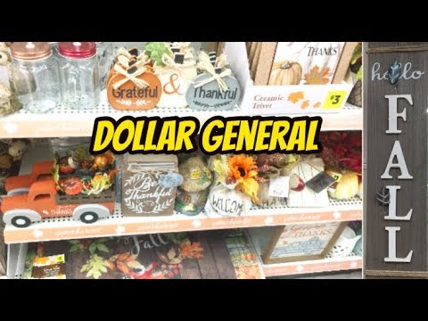 DOLLAR GENERAL FALL DUPES FOR HOBBY LOBBY | SHOP WITH ME + HAUL!
