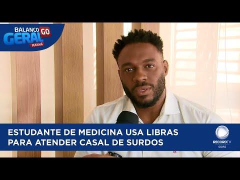 ESTUDANTE DE MEDICINA USA LIBRAS PARA ATENDER CASAL DE SURDOS