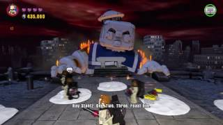 Lego Dimensions - Stay Puft Marshmallow Man boss fight (Face It!)