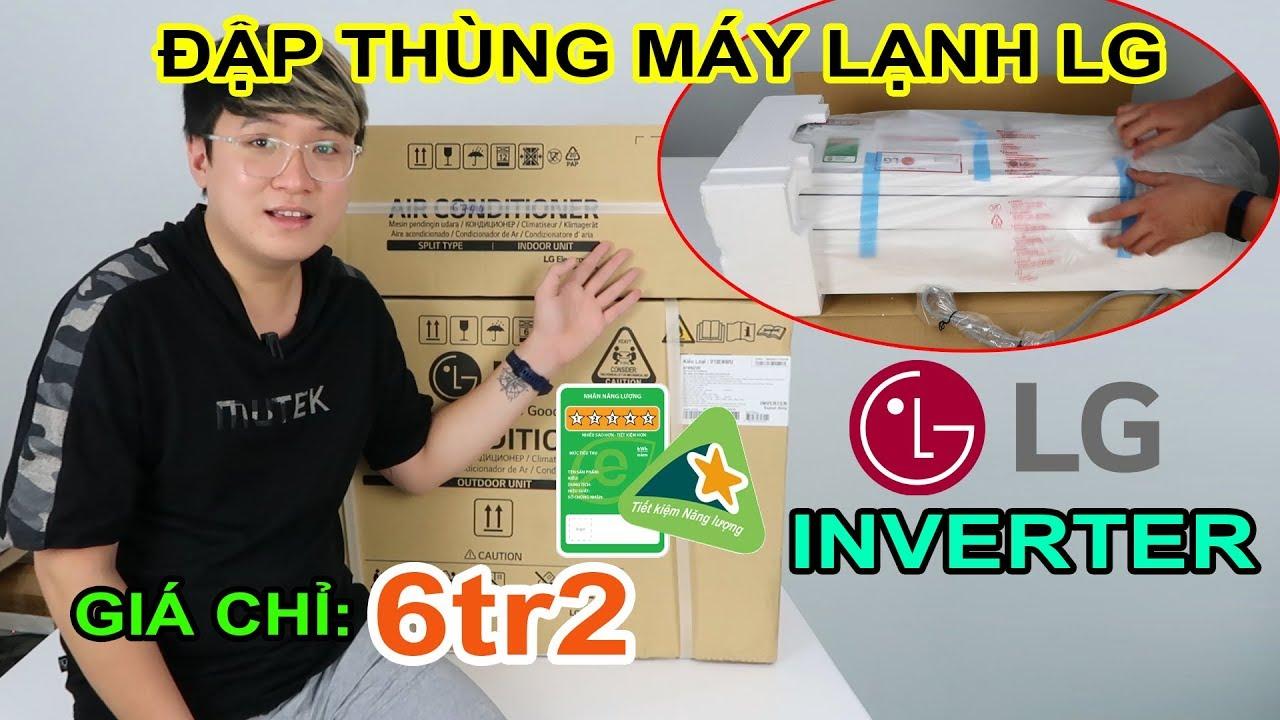 Thử mua máy lạnh Online giá rẻ trên LAZADA, tại sao không? Mở hộp Máy Lạnh LG 1HP Inverter.