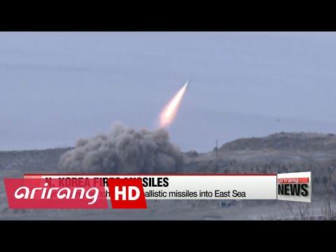 NEWSLINE AT NOON 12:00 N. Korea fires three ballistic missiles into East Sea: S. Korea military