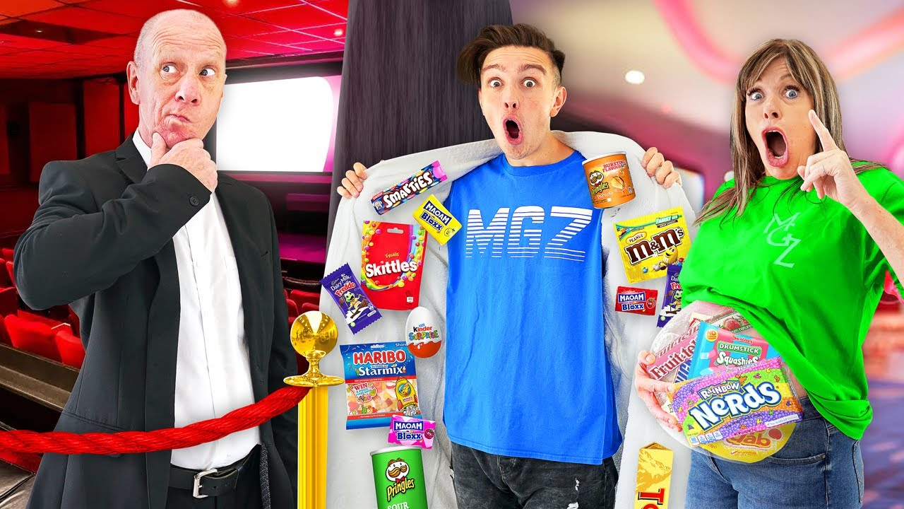 Download 12 Ways To SNEAK Candy Into The Movies & Last To Get Caught Wins - Challenge