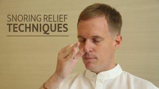 Snoring Relief Techniques